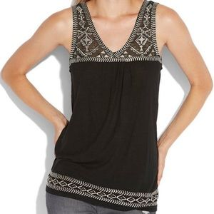 Lucky Brand Embroidered Tank Top Small
